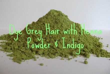 dye grey hair with henna powder and indigo