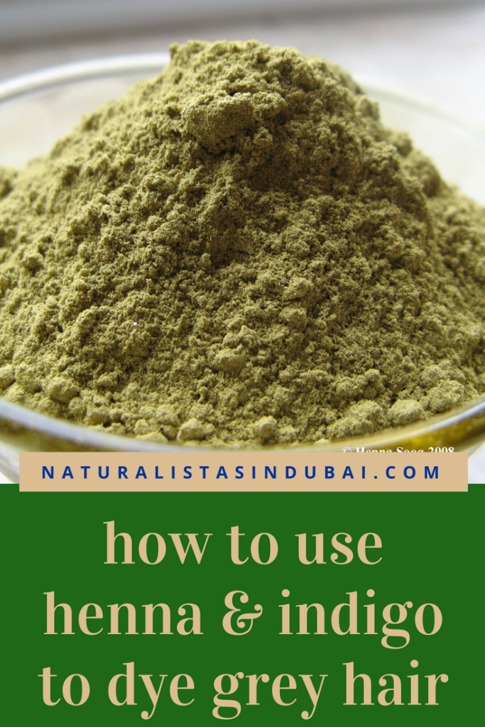 how to use henna and indigo to dye grey hair