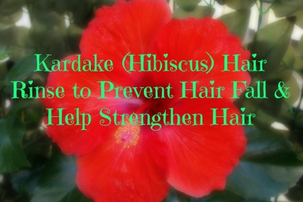 Kardake (Hibiscus) Hair Rinse to Prevent Hair Fall & Help Strengthen Hair