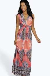 paisley slinkey maxi dress