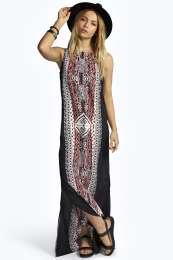 Printed Column Maxi Dress