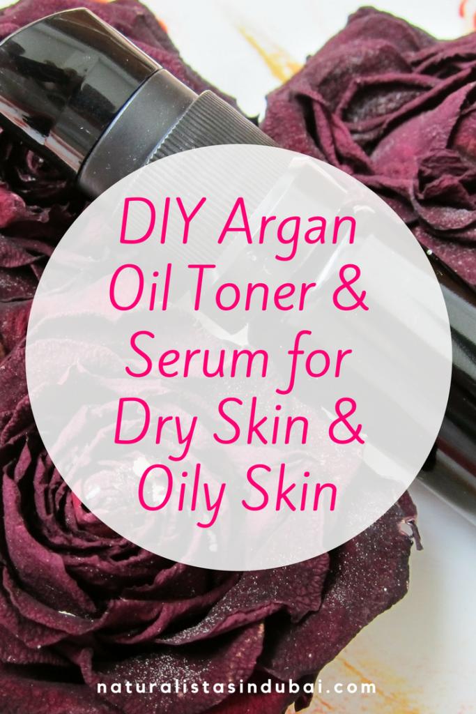 DIY Argan Oil Toner and Serum for Dry Skin and Oily Skin