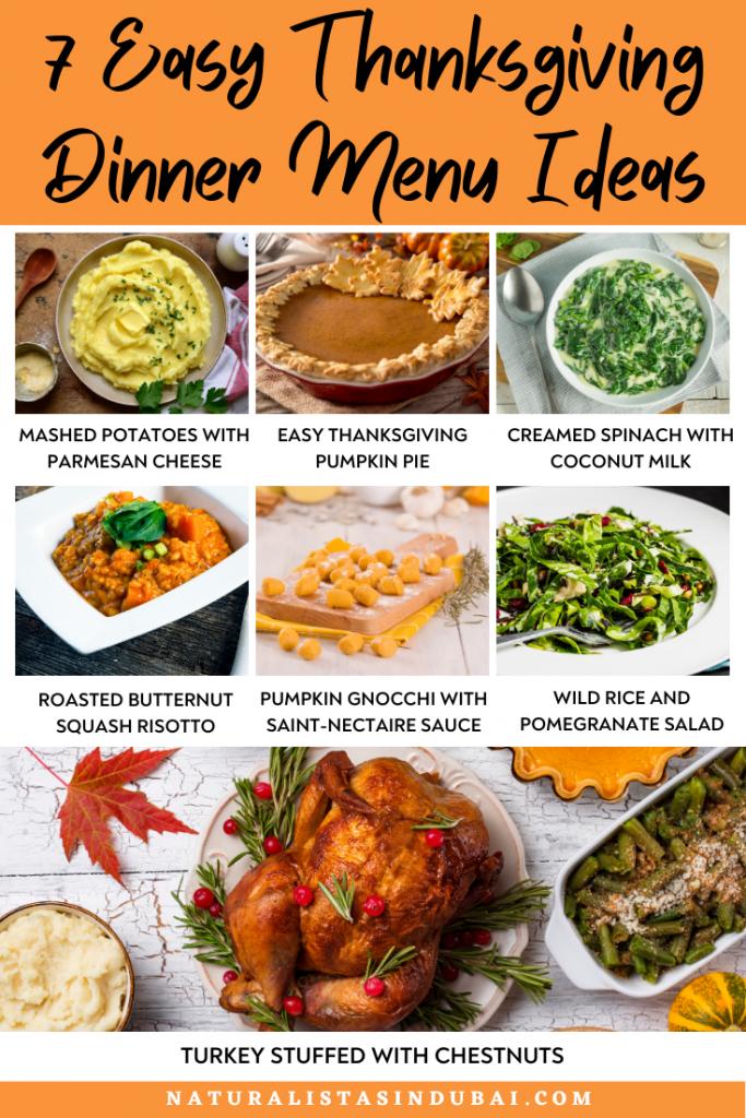 7 Easy Thanksgiving Dinner Menu Ideas