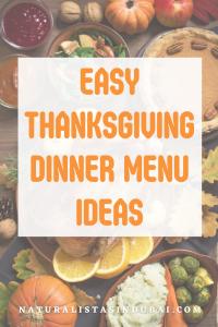 Easy Thanksgiving Dinner Menu Ideas